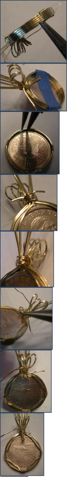 How to Wire Wrap a Coin Pendant Tutorial | Scribd