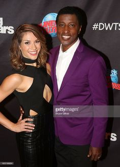 Kenny 'Babyface' Edmonds and Allison Holker spose as Season 23 of 'Dancing With The Stars' meets the press at Planet Hollywood Times Square on September 7, 2016 in New York City. .