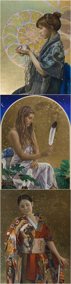 Fred Wessel egg tempera paintings