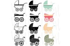 Check out Vintage Baby Carriage Clipart by YenzArtHaut on Creative Market