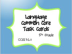 This common core resource contains 64 task cards specifically written for and aligned to CCSS 5.L.1.