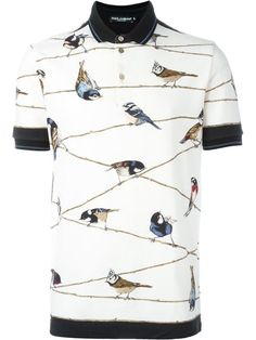 Cool Polo Shirts! Beautiful Bird-Themed Polo Shirt from dynamic duo Dolce & Gabbana. | Follow rickysturn/mens-casual