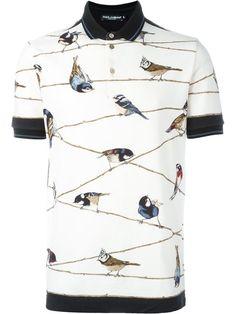 Cool Polo Shirts! Beautiful Bird-Themed Polo Shirt from dynamic duo Dolce & Gabbana. | Follow rickysturn/mens-casual
