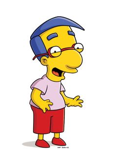 Milhouse Van Houten The Simpsons Simpsons Tattoo, Simpsons Art, Famous Cartoons, 90s Cartoons, Homer Simpson, Lisa Simpson, Simpsons Characters, Fictional Characters, Los Simsons