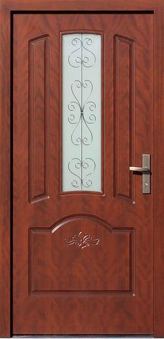 Drewniane wejściowe drzwi zewnętrzne do domu z katalogu modeli klasycznych wzór 502,6s+d1-ds1