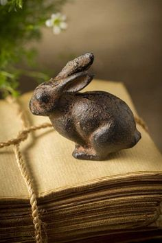 Cast Iron Bunny Rabbit by Vagabond Vintage® Rabbit Sculpture, Art Sculpture, Beatrix Potter, Lapin Art, Cast Iron, It Cast, Somebunny Loves You, Woodlands Cottage, Year Of The Rabbit