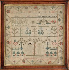 Scottish sampler dated 1794, wrought by Jeannet Pollock.