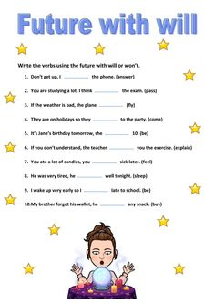 Tenses Exercises, Grammar Exercises, English Grammar Worksheets, English Verbs, Verbo To Be, Future Tense, English Classroom, School Subjects, English Lessons