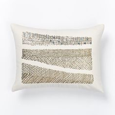 Embroidered Metallic Sequin Stripe Pillow Cover #westelm
