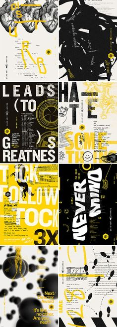 Brazilian agency F/Nazca Saatchi & Saatchi designs D&AD creative campaign Type Posters, Graphic Design Posters, Graphic Design Inspiration, Typography Design, Creative Poster Design, Ads Creative, Page Design, Layout Design, Print Design