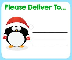 Free Printable Christmas Shipping Labels