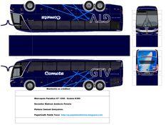 Paper Model Car, Paper Models, Onibus Marcopolo, Bus Coach, Car Wrap, Slot Cars, Legos, Vehicles, Jumping Jacks