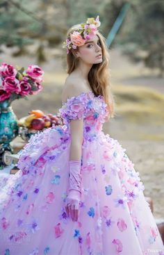tiglily bridal 2016 off shoulder sweetheart ball gown wedding dress (jasmine) mv romantic pink lavender color -- Tiglily Spring 2016 Wedding Dresses Quince Dresses, Ball Dresses, Ball Gowns, 2016 Wedding Dresses, Wedding Gowns, Wedding Venues, Bridal Collection, Dress Collection, Sweetheart Wedding Dress
