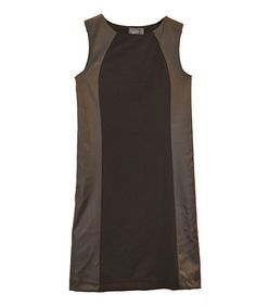 Take a look at this Black Faux Leather Dress - Women by Costa Blanca on #zulily today!