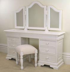 Grosvenor Sleigh White Dressing Table