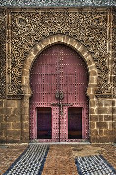 Entrance of the Mausoleum of Moulay Ismail, Morocco by Bionda.romberg, via Flickr