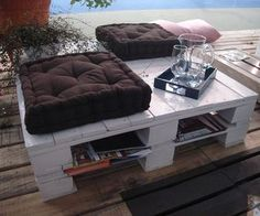DIY Pallet Coffee Table for the Deck or Patio via http://diypallets.com