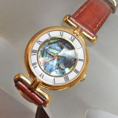Vintage Fossil Watch. Women's. Prism Faceted Crystal. by waalaa, $49.99