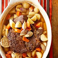 Sunday Oven Pot Roast - Whether it's a weekly family gathering or a simple sit-down meal, Sunday suppers are at their best with a scrumptious pot roast. Juicy, tender beef and a colorful medley of sweet potatoes, carrots, and parsnips fill this mouthwatering one-dish dinner recipe.