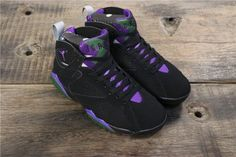 nike huarache black and green, Men Air Jordan 7 Retro Black