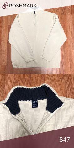 1793fd12ed Men's Gap Cream Knit Sweater Half Zip Mock Neck Men's Gap Cream Knit  Sweater Half Zip