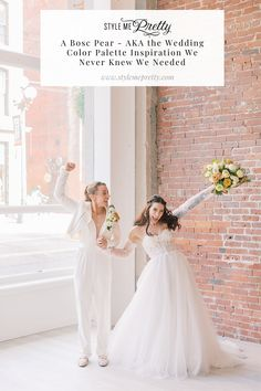 Introducing you to a new color palette that you may just want to consider for your big day! @willowandivyevents wanted to explore the mustardy-brown color of a Bosc pear as it's bold color allows for a crisp juxtaposition with classic wedding white. 🍐The final results from this dreamy shoot are seriously swoon-worthy! All details on SMP! ✨  Photography: @sarahharrisphoto  #weddinginspiration #weddinginspo #unqiuewedding