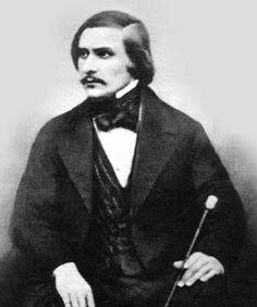 "Nikolai Gogol in 1848. Daguerroetype by S. L. Levitsky. Его последние слова в 1952-м году: ""Как сладко умирать"""