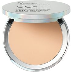 It Cosmetics Your Skin But Better CC+ Airbrush Perfecting Powder,... ($35) ❤ liked on Polyvore featuring beauty products, makeup, face makeup, face powder, beauty, cosmetics and it cosmetics