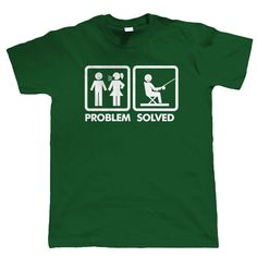 Problem Solved Mens Funny Fishing T Shirt - Carp Coarse Sea Angling