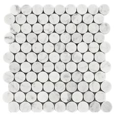 Carrara Bianco (polished) Round Mosaic Marble Model #CroscillSocial