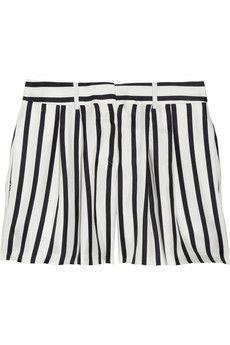 Black Fleece striped silk-twill shorts