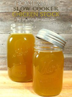 Joyously Domestic: Homemade Slow Cooker Chicken Stock