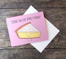 Thank You For Being a Friend Cheesecake Golden Girls Greeting Card