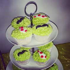 Moustache and tie cupcakes