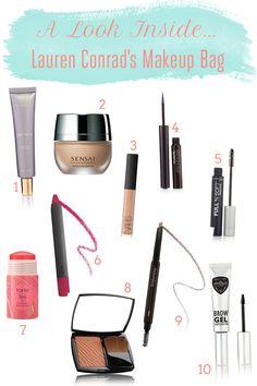 Take a peek inside Lauren's makeup bag!