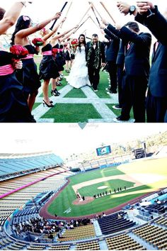 Incredible and memorable Dodger Stadium wedding captured by Nicoletta Photography.