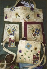 Flower and Heart Bags  --  by  Bareroots