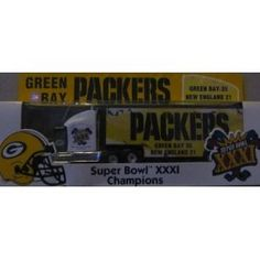 Green Bay Packers Super Bowl XXXI Champions 1997 Matchbox Tractor Trailer 1/80 Scale NFL Truck White Rose Collectibles by NFL $56.79