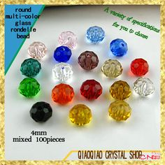 Mixed color crystal round bead 4MM 6MM 8MM 10MM 12MM multi color glass beads crystal rondelles beads-in Beads from Jewelry & Accessories on Aliexpress.com | Alibaba Group