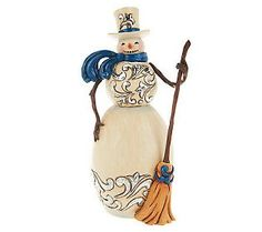 QVC-Jim Shore Heartwood Creek Metallic Snowman with Broom-Love him