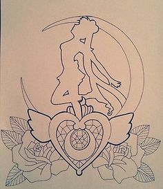 anime my drawing sailor moon tattoo design tattoo concept