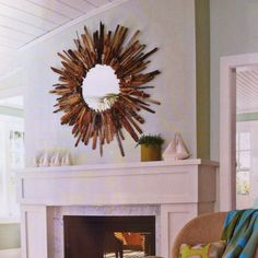 Driftwood mirror sunburst inspiration.