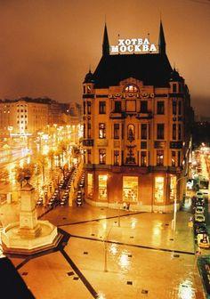 Terazije square and Hotel Moskva,Belgrade,Serbia - ovde je dusa srca moga....ovde je sve pocelo....tu si jos uvek ti... <3 <3 <3