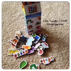Eric Carle story sequencing magnets!  Brown Bear, Brown Bear  The Very Hungry Caterpillar