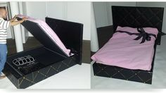 How to make a Doll Bed with Storage