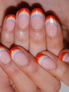 These 31 Nail Art Pictures Are Giving Us All the Mani Inspiration We Need Cute Acrylic Nails, Acrylic Nail Designs, Gel Nails, Nail Polish, Acrylic French Manicure, Rainbow Nail Art Designs, French Nail Art, Chic Nail Art, Chic Nails