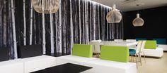 Centre d'Encodage Desjardins Architecture Design, Centre, Corporate Office Design, W Hotel, Cottage, Bright, Curtains, House, Home Decor
