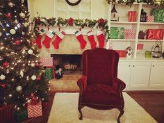 """Just putting the finishing touches on the set up for the """"Santa and Me"""" mini session experience that will take place tomorrow! A cancellation means one spot is still available! PM me quickly if you want it! Baby Portraits, Photographing Kids, Christmas Stockings, Cute Pictures, Santa, Holiday Decor, Mini, Home Decor, Needlepoint Christmas Stockings"""