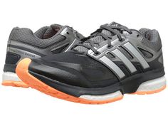 adidas Running Response Boost Techfit Dark Grey/Silver Metallic/Flash Orange - Zappos.com Free Shipping BOTH Ways