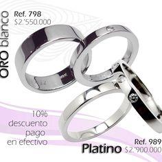 Juego de argollas de matrimonio en oro blanco y platino con diamantes.#elaliadojoyas #anillosdecompromiso #engagementring #diamantes #platino #alianzas #argollas #oroblanco #anillosdeboda info@elaliadojoyas.com, : (+57) 3105753129 - (+57) 3008899928 Bogotá, Colombia.✈️ Hacemos envíos dentro y fuera del país Recibimos tarjetas de crédito y débito.
